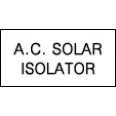 AC Solar Isolator
