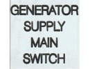 GENERATOR SUPPLY MAIN SWITCH