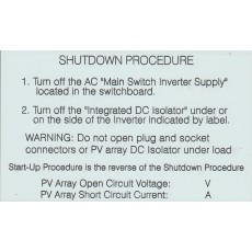 INTEGRATED DC ISOLATOR SHUTDOWN PROCEDURE