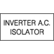 Inverter A.C. Isolator