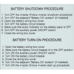 LG CHEM SHUTDOWN PROCEDURE
