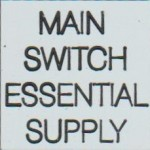 MAIN SWITCH ESSENTIAL SUPPLY