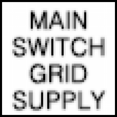 Main Switch Grid Supply