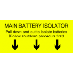 Main Battery Isolator