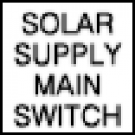 Solar Supply Main Switch