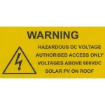 WARNING - VOLTAGES ABOVE 600VDC