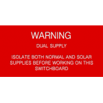 Warning - Dual Supply
