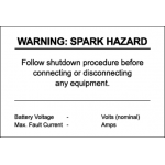 Warning: Spark Hazard