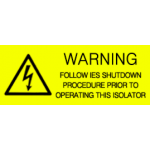 Warning - Follow IES Shutdown