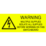 Warning - Multiple Supplies